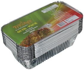 Freshee 25 pcs Strong Disposable Aluminium Silver Foil Container 660ml