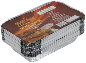 Freshee 25 pcs Strong Disposable Aluminium Silver Foil Container 750ml