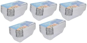 Freshee Aluminium Silver Foil Disposable Containers Pack of 5 x 25pcs