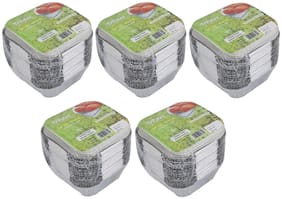 Freshee Aluminium Silver Foil Container 120ml | Food Storage Disposable Containers with Lid For Kitchen | Bacteria Resistant(Pack of 5 - 25pcs each)