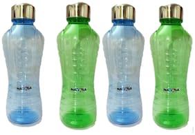 VJ 1000 ml Stainless Steel & Plastic Assorted Fridge Bottles & Water Bottles - Set of 4