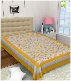 FrionKandy  Cotton Single Bed Sheet