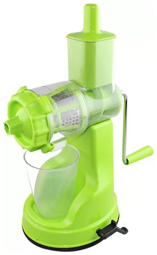 Fruits   vegitables Hand Juicer With Steel Handle Plastic, Steel Hand Juicer  1Pc  Multicolor