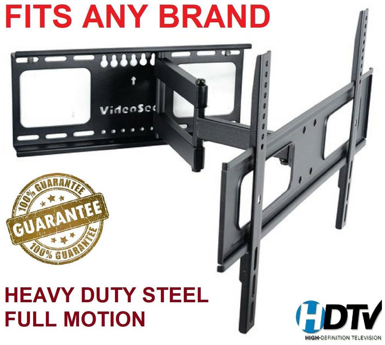 Full Motion TV Wall Mount Swivel Bracket 42 52 55 65 70 Inch LED LCD Flat Screen