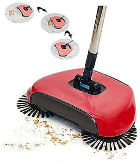 Fully Automatic Hand Push Sweeper Mop Sweep Broom Dustpan Combination Suit - SWPDG