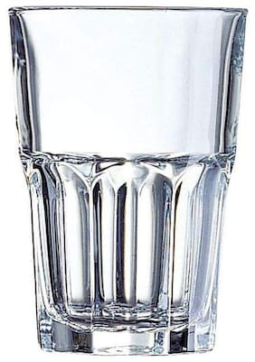 Incrizma Fully Temppered Granity Glass Tumbler Set;Set of 6 Pcs;Transparent (350 ml High Ball)