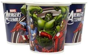 Funcart Avengers Paper Cup (200 ML), (10pcs/pack)