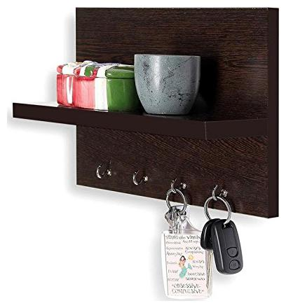Furniture Cafe MDF Wall Mounted Key Hanger Wall Shelf/Shelves Rack for Home/Office...