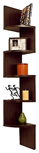 Furniture Cafe Zigzag Corner Wall Mount Shelf Unit/Racks and Shelves/Wall Shelf/Book Shelf/Wall...