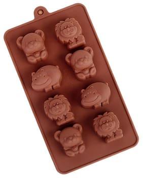 Futaba Cute Bear Hippo Lion Shaped Silicone Chocolate Mold
