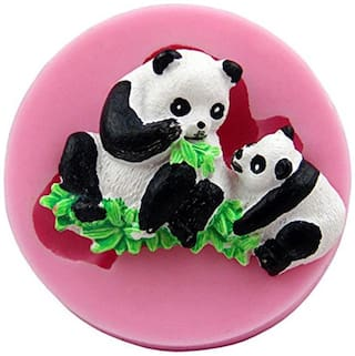 Futaba Parent-child panda silicone Mold