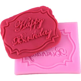 Futaba Silicone Happy Birthday Cake Baking Mould