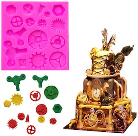 Futaba Vintage Mechanical Watch Gears Silicone Mold