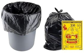 G-1 Medium Disposable Garbage/Dustbin Bags (Black, 4 Packs)