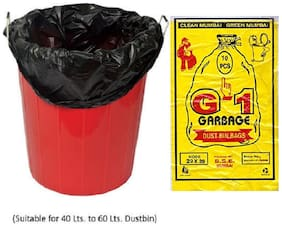 G-1 40 pcs - 29X39 Black Extra Large Disposable Garbage Trash Waste Dustbin Bags for 73 cm x 99 cm