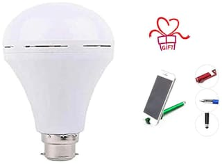 G Gapfill 9W High Quality Ac/Dc Rechargeable Emergency Inverter LED Bulb ( Pack Of 1) With Free 3 In 1 Pen Mobile Stand