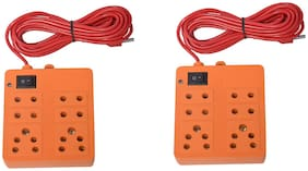 G GAPFILL Multi Pin Assorted Extension Board ( 3 m , 6 Socket , 1 Switches)