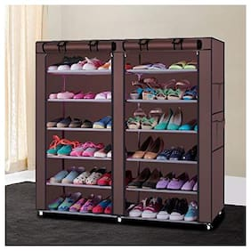 G-Kamp Japan Multipurpose Portable Folding Shoe Racks For Home Organizers With Water-Resistant Metal Collapsible Shoe Stand
