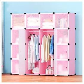 G-KAMP JAPAN 16 Cube Multipurpose Waterproof Magnetic Door Wardrobe Metallic Wire Storage Organiser