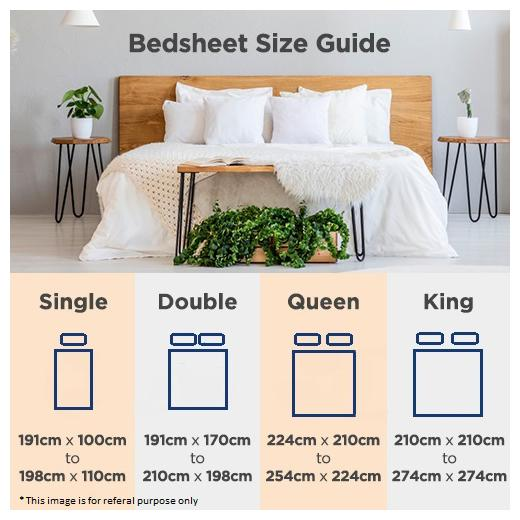 Bedsheet With 2 Pillow Covers, Double Bed Sheet Vs Queen Size