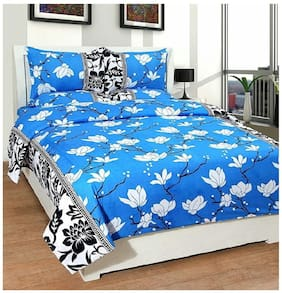 G5S Trendz Microfibre Floral Double Bedsheet ( 1 Bedsheet With 2 Pillow Covers , Multi )
