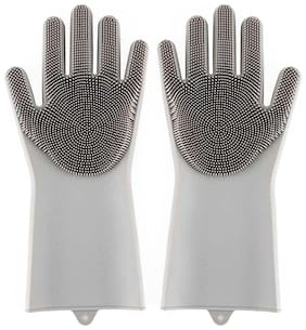 Gabbar Silicone Gloves for Household Cleaning;Dishwashing and Pet Grooming