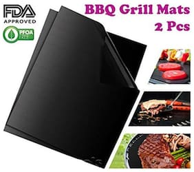 Gadget Hero's Non-stick Barbeque Grill Mat. Set of 2 Barbeque Mats For BBQ Grill & Baking. FDA-Approved.