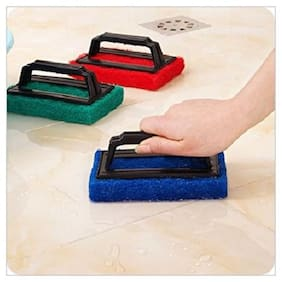 GadgetX Tile Cleaning Multipurpose Scrubber Brush With Handle