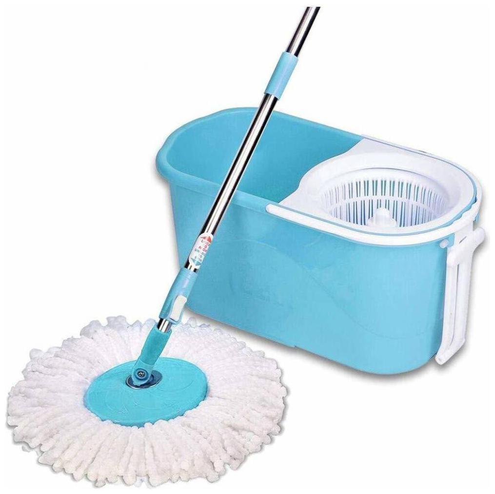 Gala e Quick Spin Mop Set with Wheels and 2 Microfibre Refills by Uday Informatics