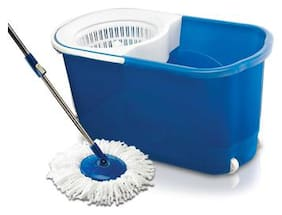 Gala Spin Mop With Easy Wheels & Bucket For Magic 360 deg Cleaning