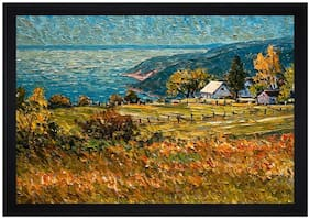 Gallery99 A Natural Textured Paper Proof Framed Painting
