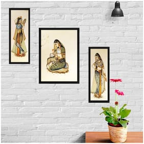Gallery99 Wood Printed Multi Canvas painting ( Set of 3 )