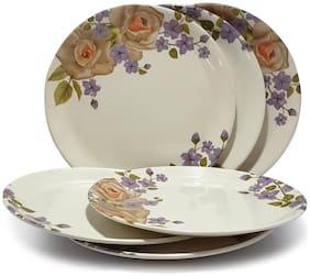 Gallery99 Round High Grade Melamine Full Dinner Plates Serving Plates - Set of 6