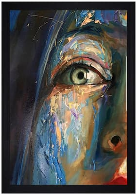 Gallery99 The Face Print Textured Paper Proof Framed Painting