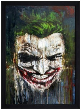 Gallery99 The Joker Textured Paper Proof Framed Painting