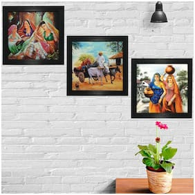 Gallery99 Handcrafted Canvas painting ( Set of 3 )