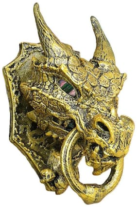 Game of Thrones : Dragon head door knocker/showpiece - Self sticky, high detailed, easy installation for door/window
