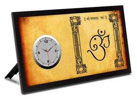Ganesh Ji Analog Table Clock for Home / Kitchen / Living Room / Office and Gifting purpose.