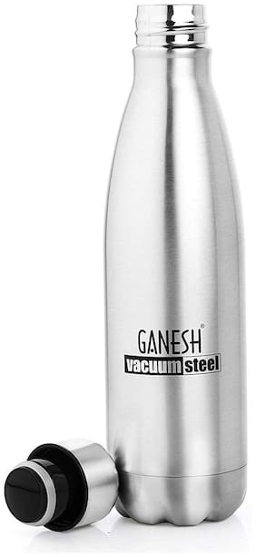 Ganesh Stainless steel Insulated Pro 750ML Thermosteel Flask Silver Set Of 1