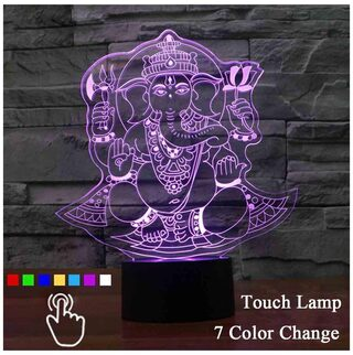 Ganesha 3D Lamp Touch Control With USB Cable Led Night Light