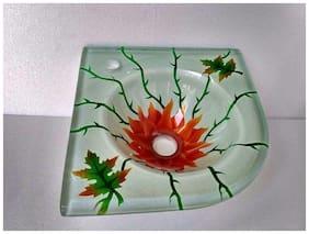 Garden Corner Glass Basin 12x12
