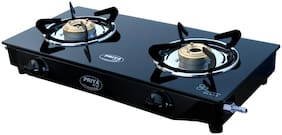 PRIYA JOJO PRIYA JOJO 2 Burner Regular Black Gas Stove
