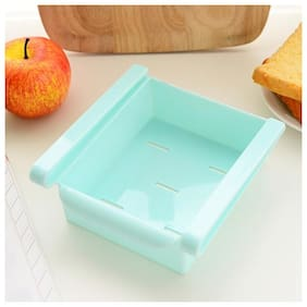 Gayatri 1pc Multifuction Plastic Kitchen Refrigerator Storage Rack Home Fridge Shelf tray