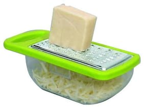Gayatri Steel Cheese Grater with Plastic Container