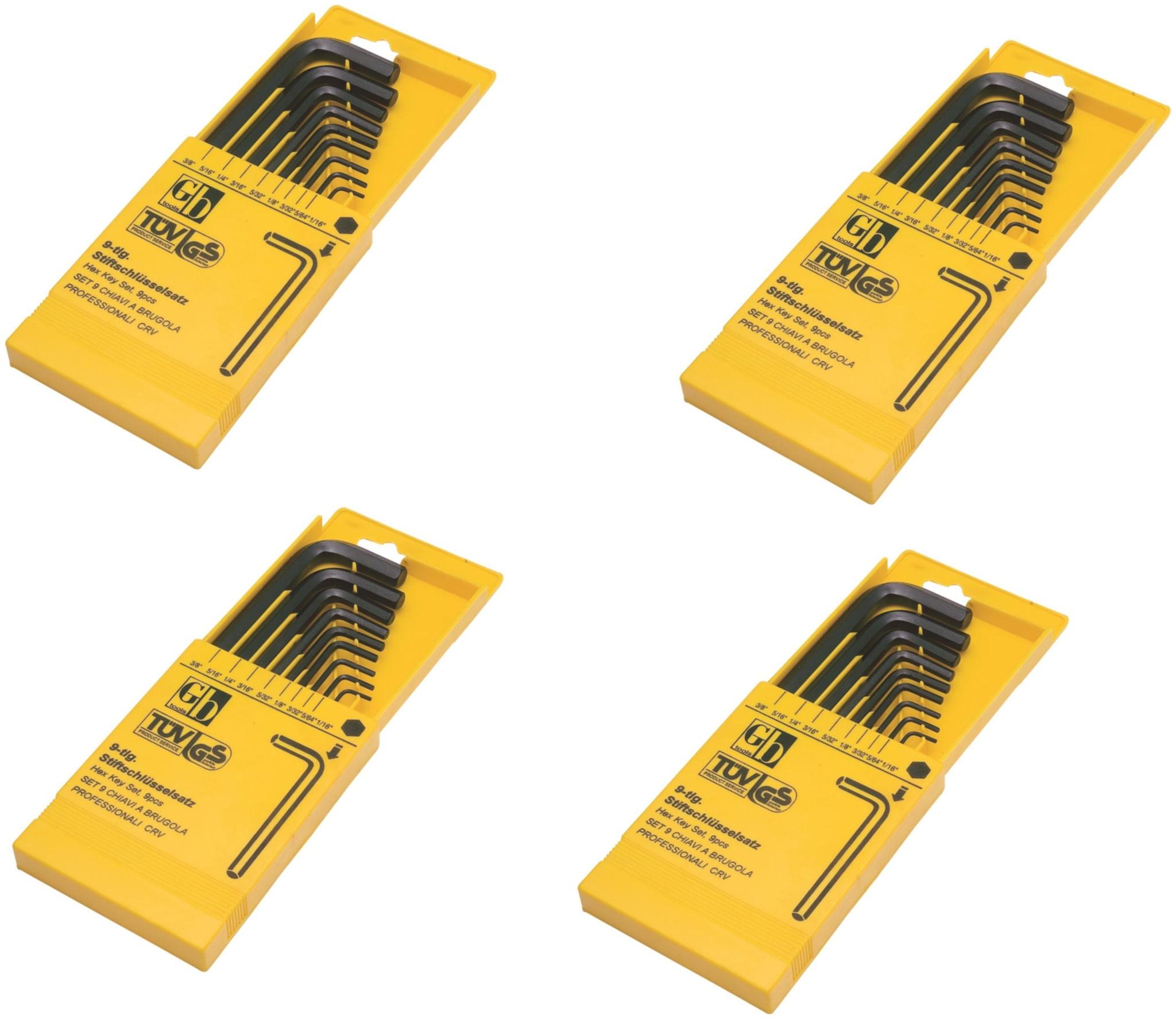 GB Tools   Hex Allen Key Sets   Pack of 4 sets