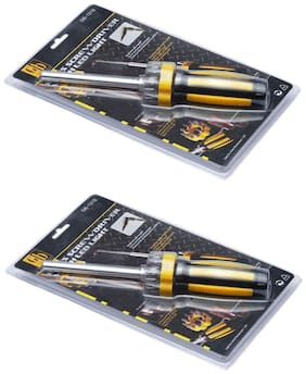 GB Tools - Magnetic Screw Driver with Led Light (Set of 2 pcs)