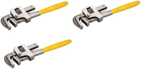 GB Tools - Pipe Wrench Stillson Type Carbon Steel Painted (Pack of 3 pcs) (Size :- 10 inch)