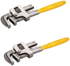 GB Tools - Pipe Wrench Stillson Type Carbon Steel Painted (Pack of 2 pcs) (Size :- 10 inch)