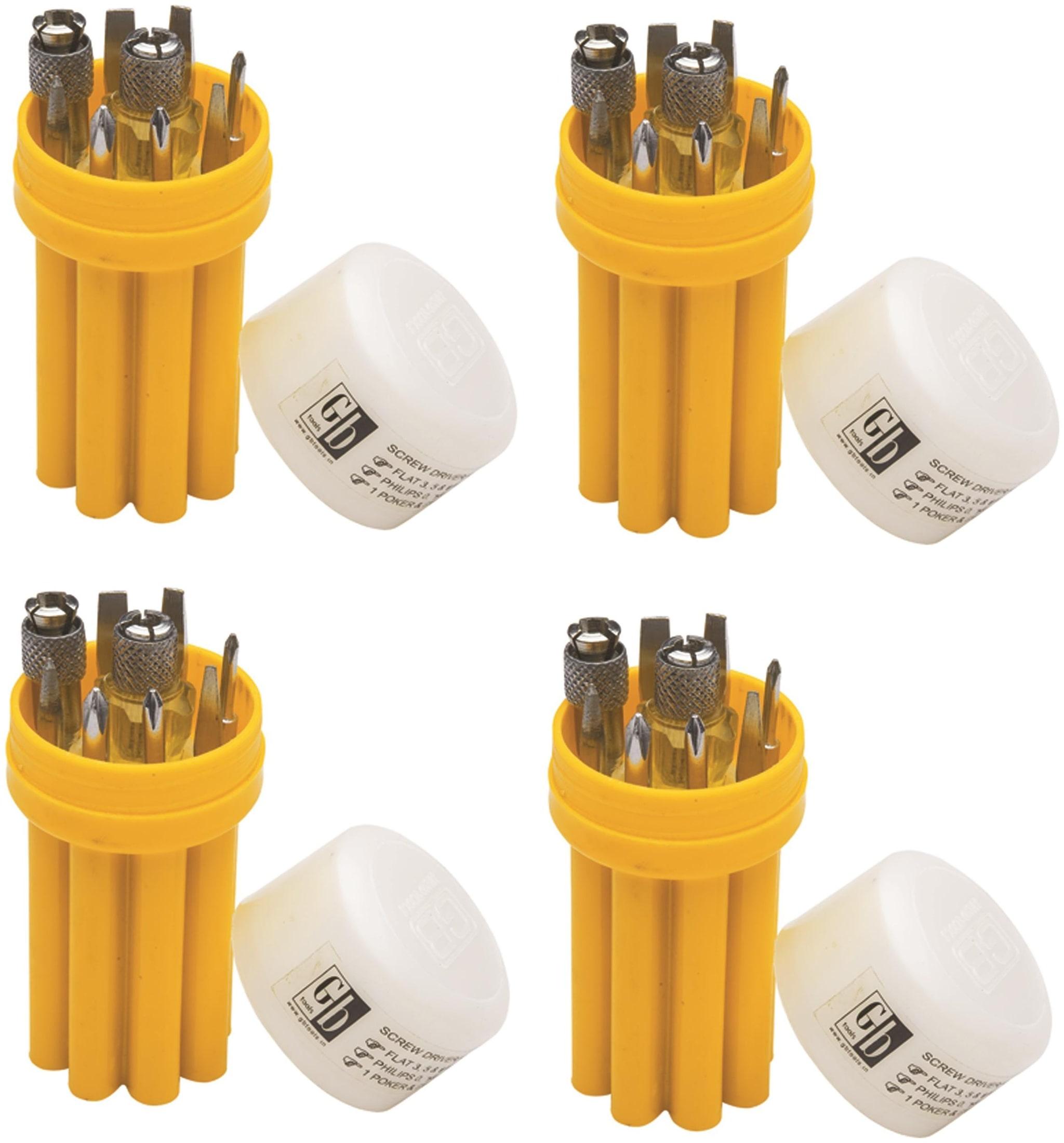 GB Tools   Screw Driver Kit Set of 4 kits  Include 8X4 pcs