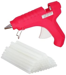 Geetanjali Decor Makson 40W Hot Melt Standard Temperature Glue Gun (with on/off witch) with 15 glue sticks